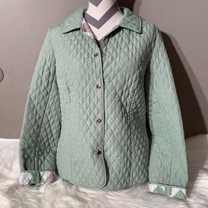 """Briggs New York Size 14 Quilted Coat Length 25"""""""